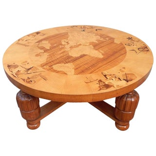 1930s Art Deco Birger Ekman for Reiners Möbler Inlaid Coffee Table For Sale