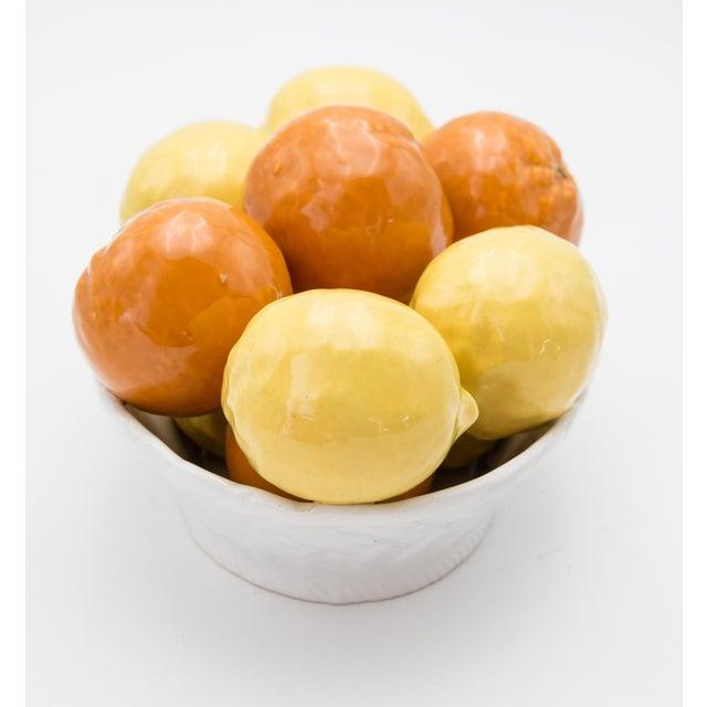 Vintage Italian Majolica Bowl of Lemons and Oranges For Sale - Image 4 of 8