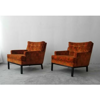 Pair of MidCentury Lounge Chairs by Harvey Probber in Jack Lenor Larsen Fabric Preview