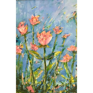 Impressionist / Magical Realist Painting of Flowers by James Antonie