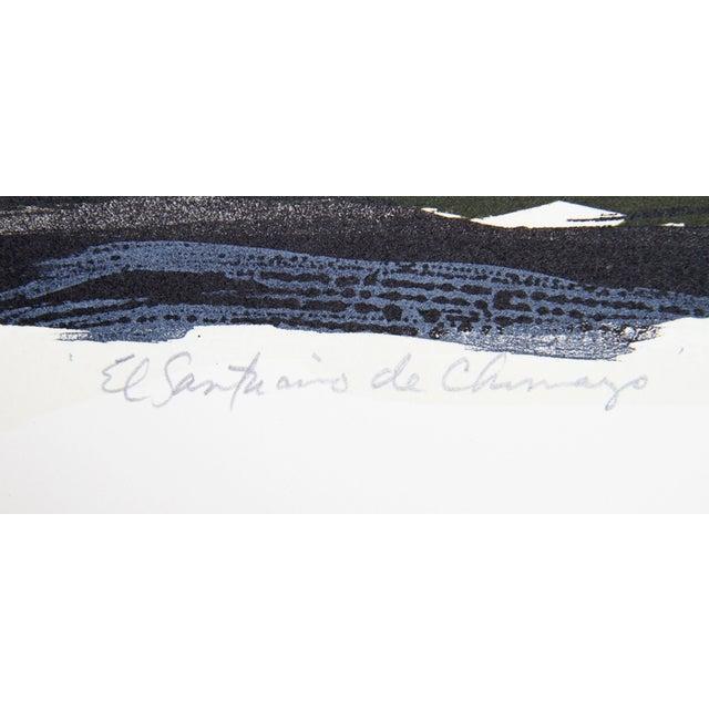 "Modern Gregory Amenoff ""Santurio De Chimayo"" Lithograph For Sale - Image 3 of 3"