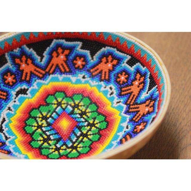 Huichol Ceremonial Beaded Bowl - Image 4 of 5