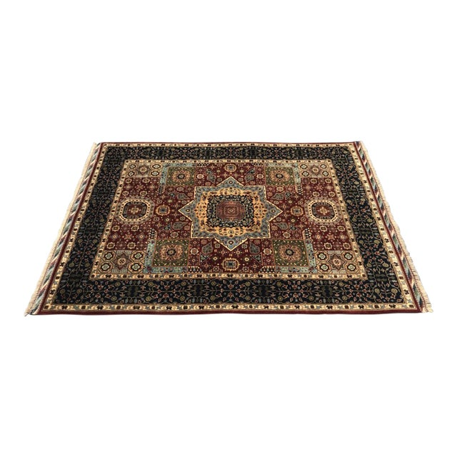 Persian Handmade Traditional Rug - 4′11″ × 6′7″ For Sale