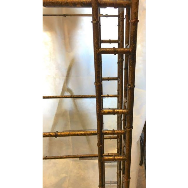 Gold Mid-Century Modern Brass Faux Bamboo Etagere For Sale - Image 8 of 10