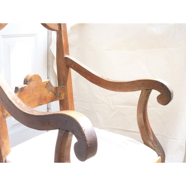 Rustic Walnut Armchair - Image 4 of 7