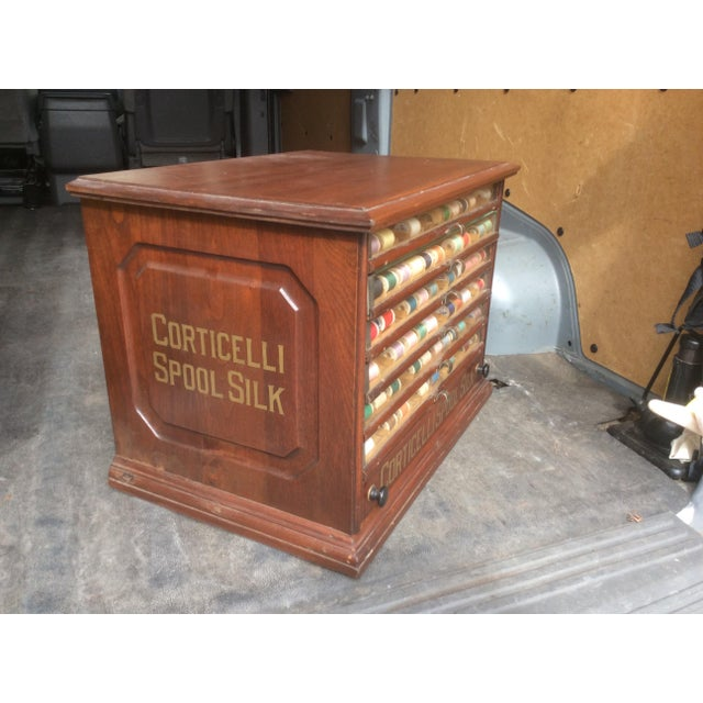 1900s Antique Mercantile Spool Cabinet For Sale - Image 5 of 6