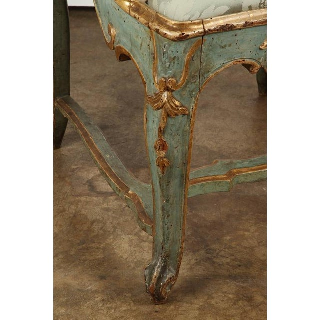 Fine Venetian Rococo Arm Chair For Sale In Los Angeles - Image 6 of 9