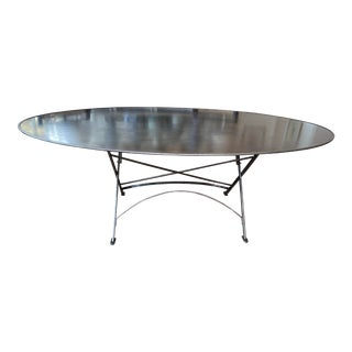 Jardinieres & Interieurs Oval Folding Iron Table For Sale