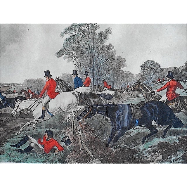 English Traditional Antique Fox Hunting Engraving For Sale - Image 3 of 5