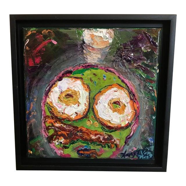 """""""Breakfast"""" Original Framed Oil Painting For Sale"""