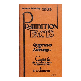 Prohibition Facts, Questions & Answers For Sale