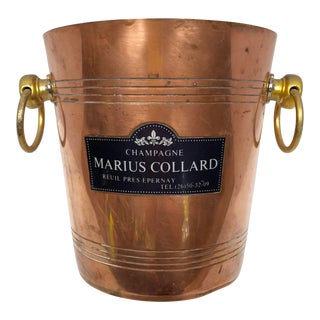 "Vintage French ""Marius Collard"" Copper Champagne Ice Bucket For Sale"