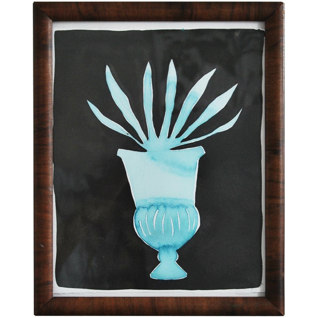 Kate Roebuck Agave Urn Framed Painting - Image 1 of 2