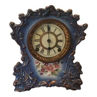 1880s Ansonia Porcelain Clock For Sale