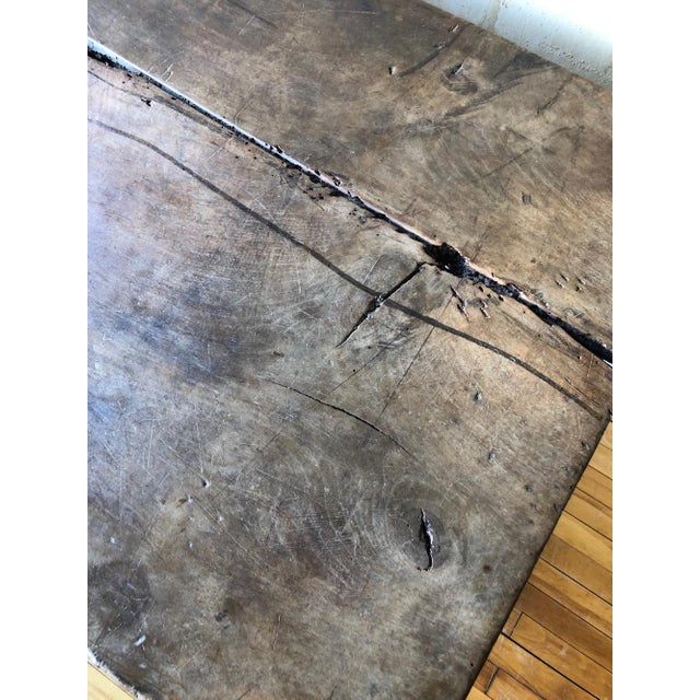Brown 17th Century Italian Antique Trestle Table For Sale - Image 8 of 12