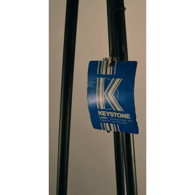 """Mid Century Tripod Torchiere Floor Lamp by """"Keystone"""" For Sale In New York - Image 6 of 8"""