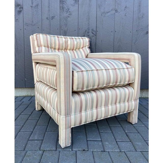 Milo Baughman Milo Baughman Style Parsons Chair For Sale - Image 4 of 13