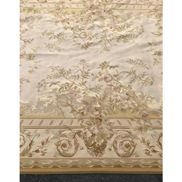 French Absolutely Stunning French Aubusson Needlepoint Rug For Sale - Image 3 of 6