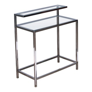 Sarreid Two Tier Steel Table For Sale