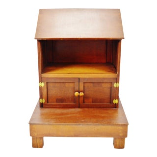 Vintage Table Top Portable Pulpit Bible Stand With Storage For Sale