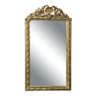 Mirror, 19th Century French Gilded Regence Style For Sale