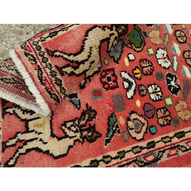 """Blue Vintage Persian Mahal Rug – Size: 2' 1"""" X 4'4"""" For Sale - Image 8 of 9"""