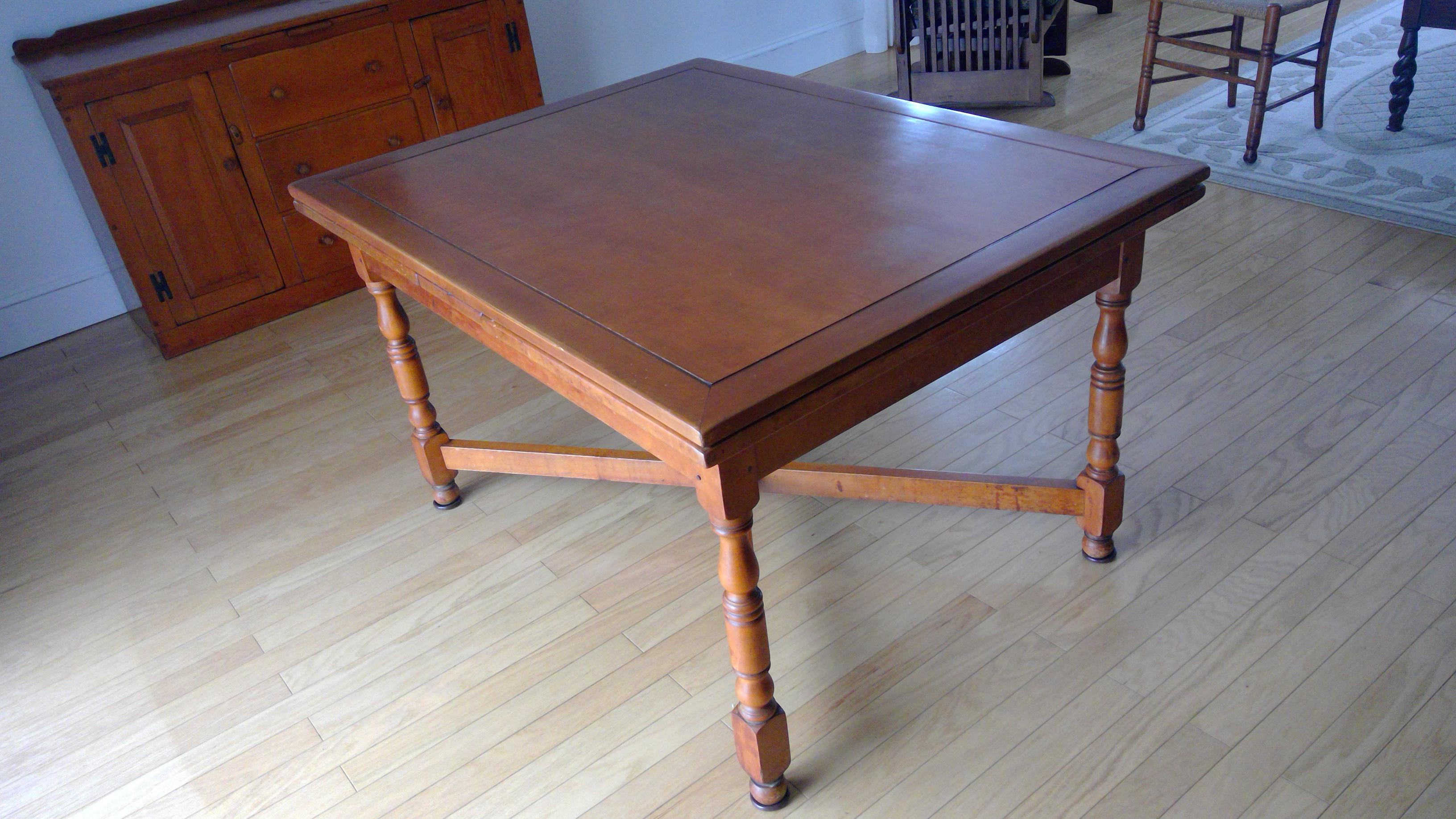 Expandable Bogart Built Early American Dining Table U0026 Chairs (