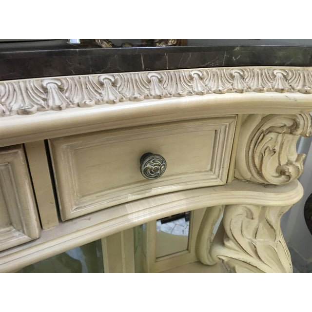 White French Carved Server Display Cabinet by Pulaski For Sale - Image 8 of 11