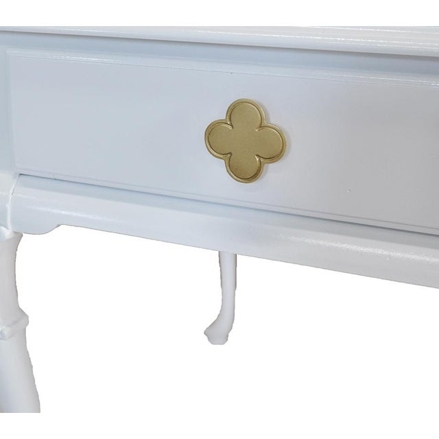 White Chippendale Side Tables -- A Pair - Image 5 of 6