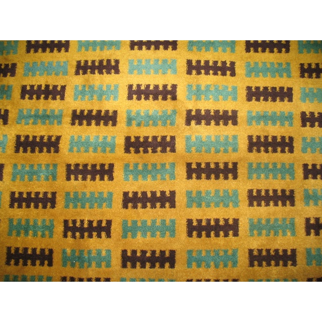 Country Vintage Turkish Deco Rug - 4'9'' X 5'4'' For Sale - Image 3 of 3