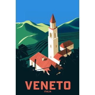 2019 Contemporary Travel Poster - Pascal Blanchet - Veneto For Sale