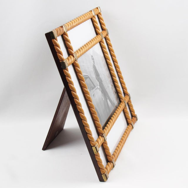 Italian Designer Noel Bc Italy Large Blond Carved Wood Picture Photo Frame For Sale - Image 3 of 8