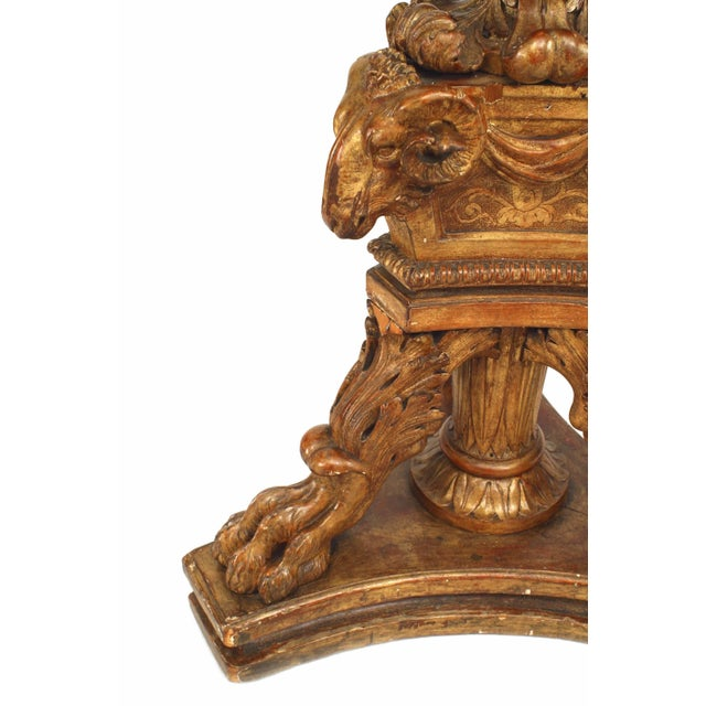Wood 19th Century French Louis XVI Style Gilt Pedestals - a Pair For Sale - Image 7 of 8