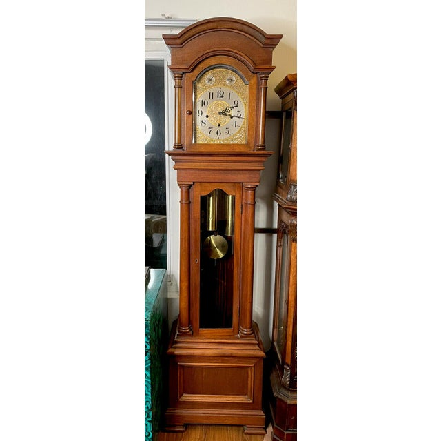 """Antique Waterbury Grandfather Clock - """"801 Hall Chime Clock"""" Model For Sale - Image 13 of 13"""
