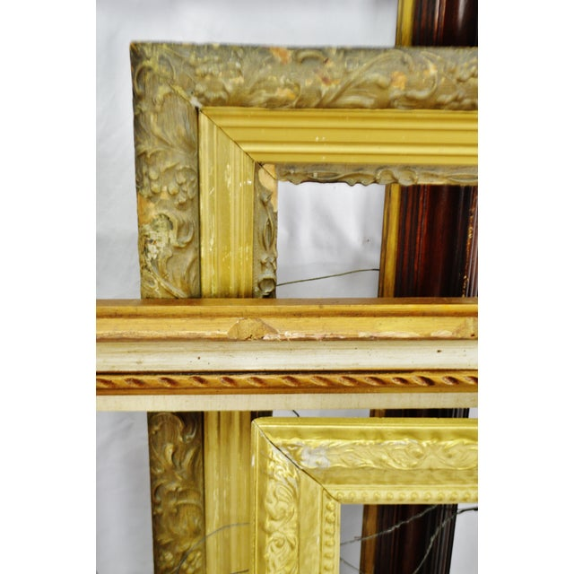 Mid 20th Century Vintage Medium Sized Wood Picture Frames - Group of 6 For Sale - Image 5 of 13
