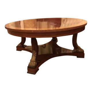 Neoclassical Kindel Mahogany Cocktail Table For Sale