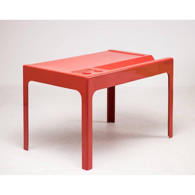 Red Red Fiberglass Desk by Marc Berthier For Sale - Image 8 of 8