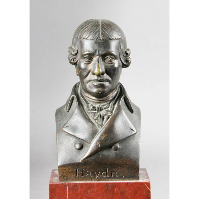 Bronze Interesting Collection of Ten Busts of Composers For Sale - Image 7 of 11