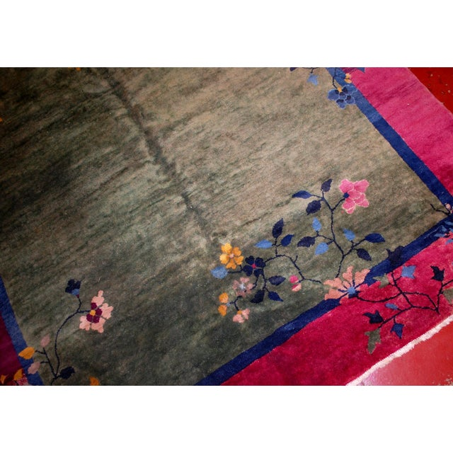 Art Deco 1920s Antique Art Deco Chinese Rug - 6′2″ × 11′8″ For Sale - Image 3 of 8