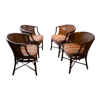 McGuire Cane Rattan Chairs - Set of 4 For Sale