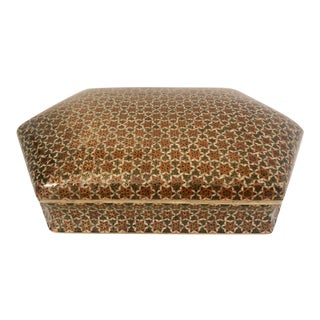 Vintage Persian Khatam Inlaid Marquetry Box For Sale