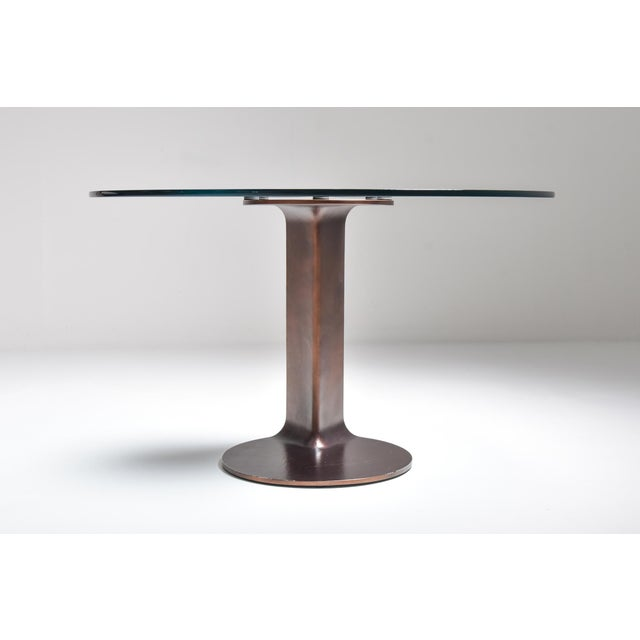 1970s Afra & Tobia Scarpa Bronze Table Tl59 For Sale - Image 6 of 13
