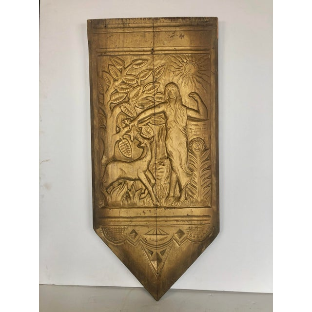 1920s Folk Art Hand Carved Wall Sculpture For Sale In Chicago - Image 6 of 6