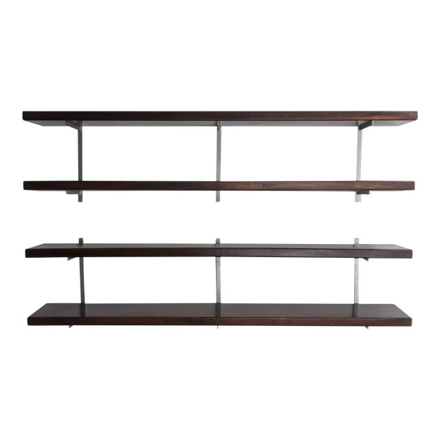 Wall-mounted shelves by Sergio Rodrigues, Brazil, 1960s. For Sale