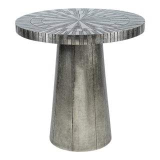 Kenneth Ludwig Astro Silver Metal Table For Sale