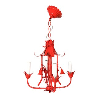 Chinoiserie Pagoda Small Red Chandelier