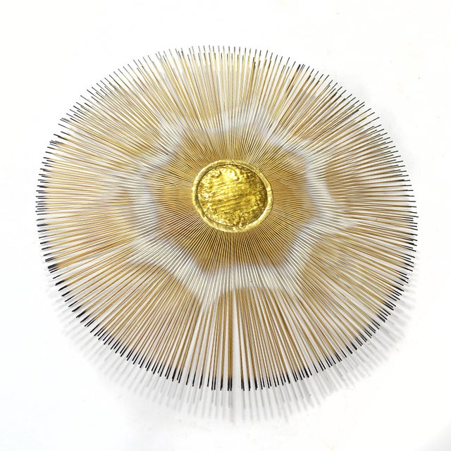 Sunburst Wall Sculpture by Casa Devall For Sale - Image 4 of 9