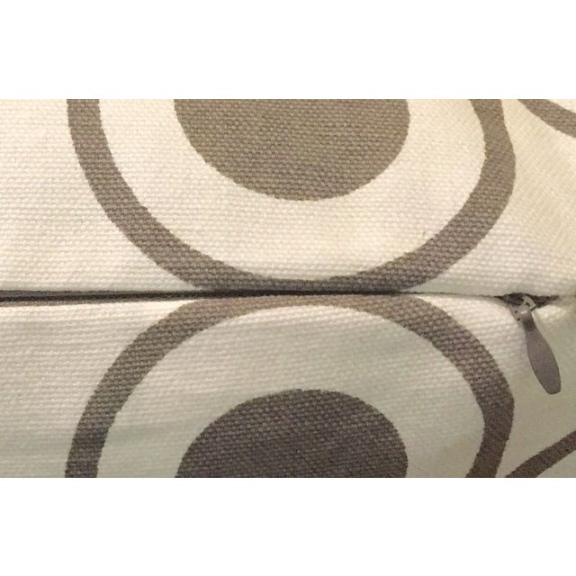 Gray & White Geometric Pillows - A Pair - Image 5 of 6