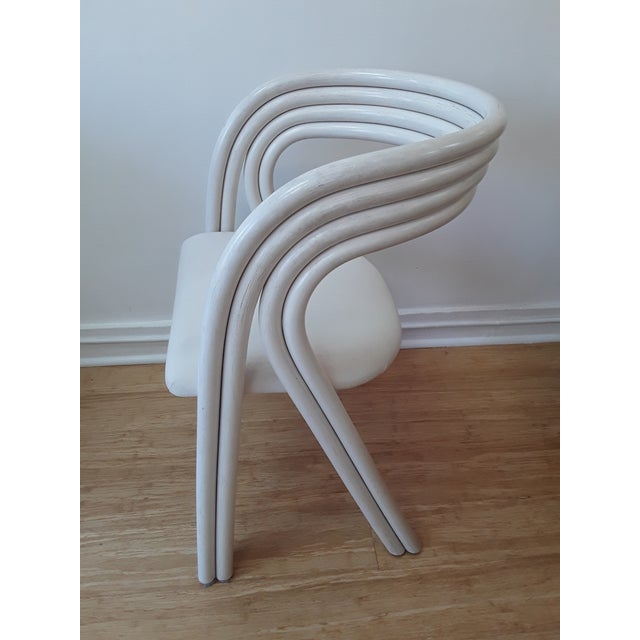 1970s White Painted Dutch Bentwood Armchairs by Jan Des Bouvrie for Rohé Noor - Set of 4 For Sale - Image 5 of 10