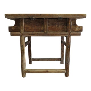19th Century Primitive Rustic Table For Sale